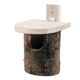 Natural Log Robin Nesting Box