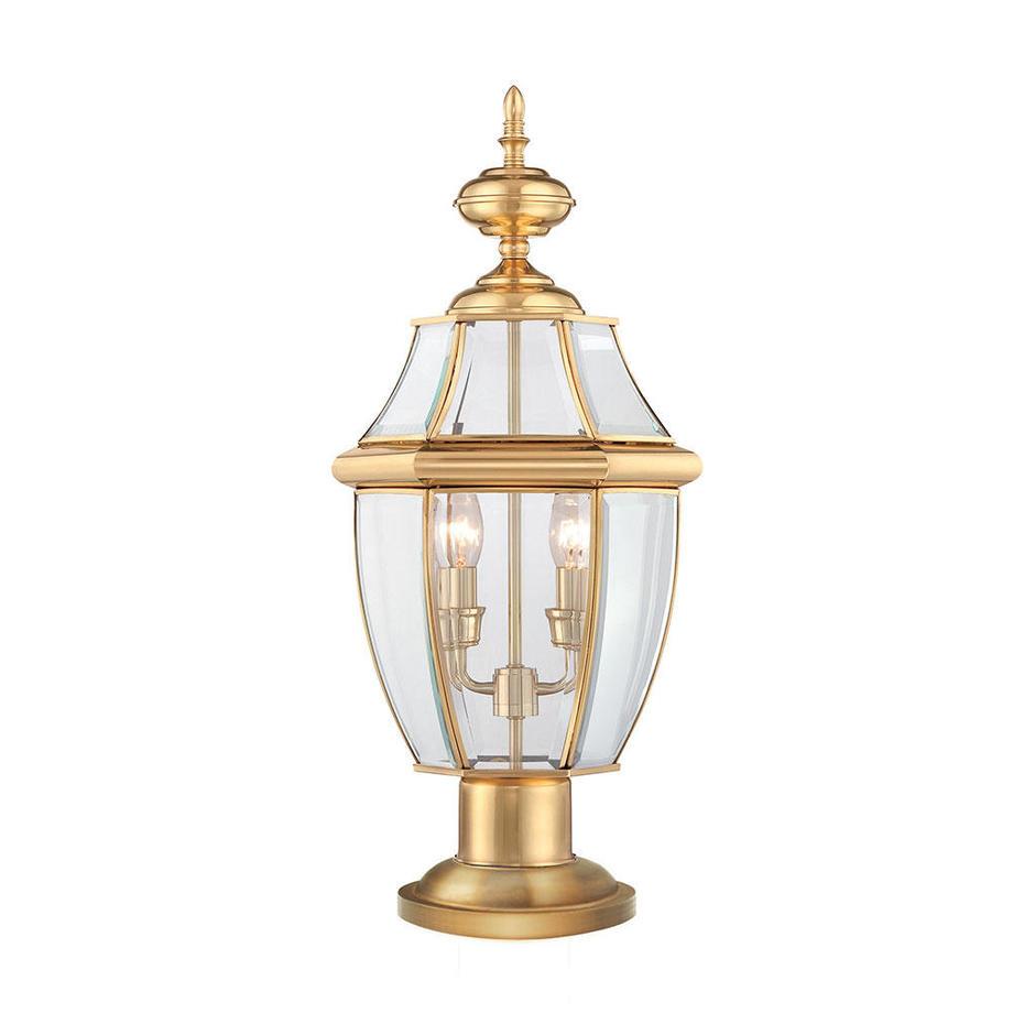 Newbury Outdoor Pedestal Lantern