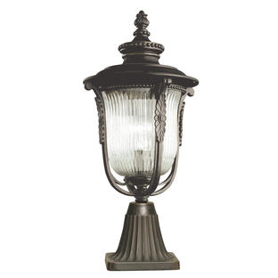 Luverne Outdoor Pedestal Lantern