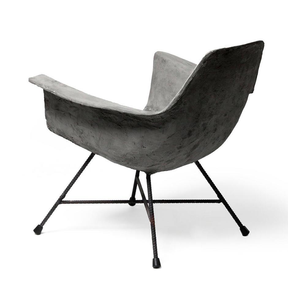 Hauteville Concrete Low Armchair