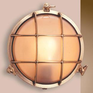 Round Brass Bulkhead Lights