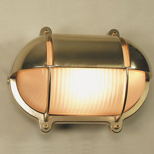 Oval Bulkhead Wall Lights with Shade