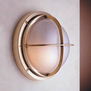 Round Bulkhead Light with Cross Grille