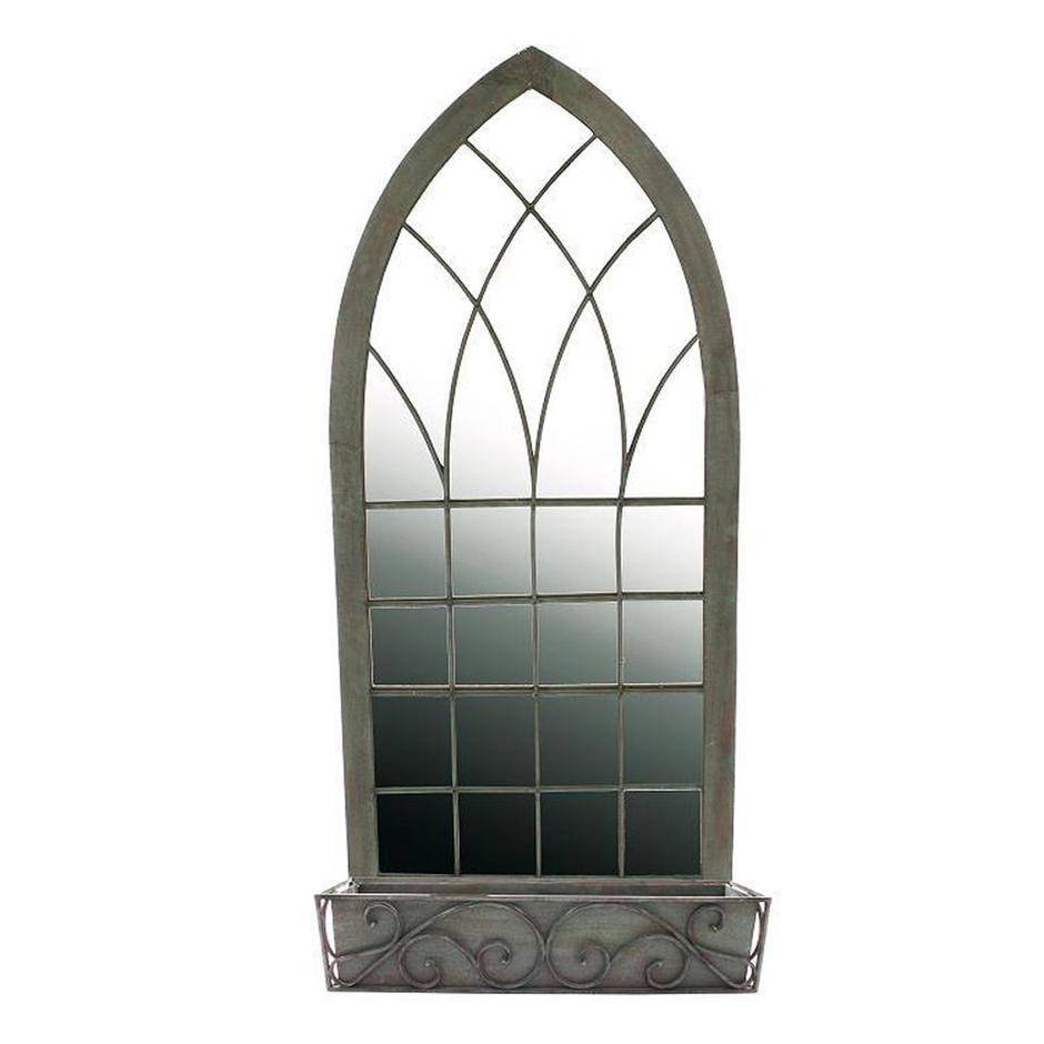 Gothic Garden Mirror with Planter