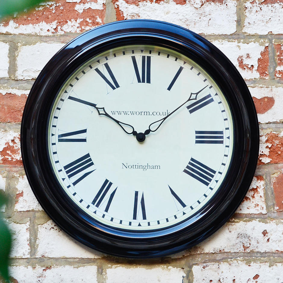 Personalised Lascelles Outdoor Station Clock