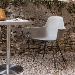 Hauteville Concrete High Armchair