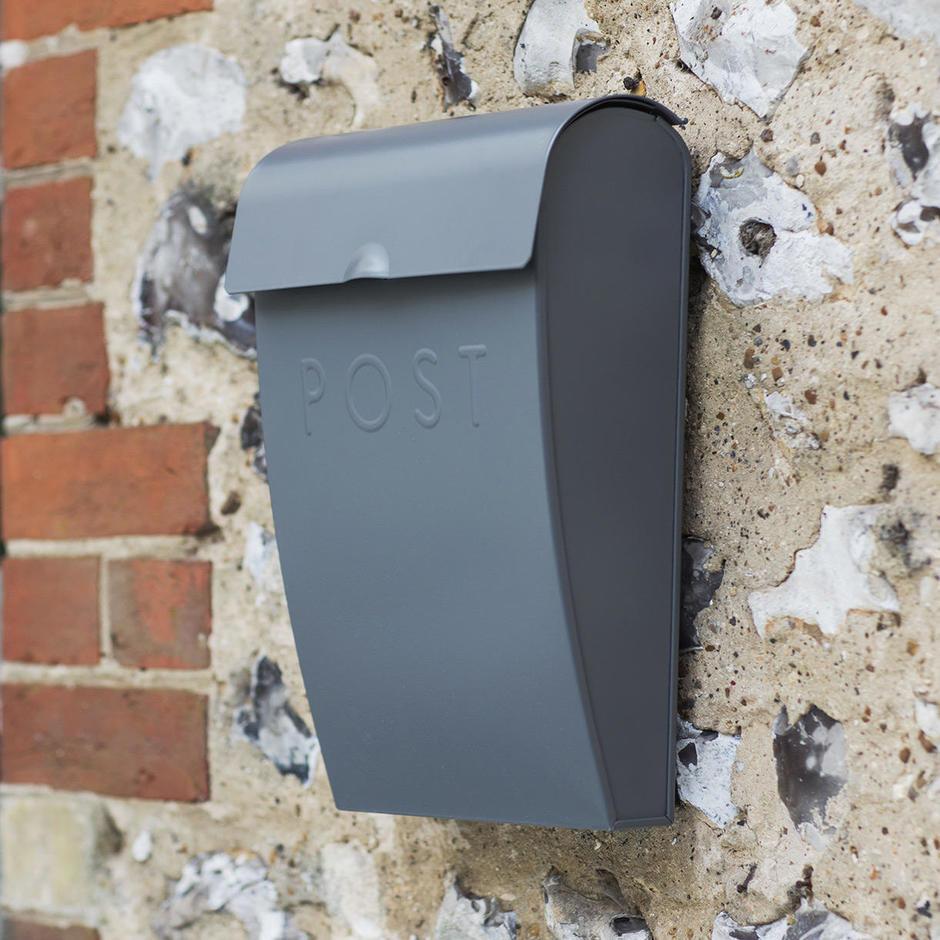 Charcoal Lockable Post box