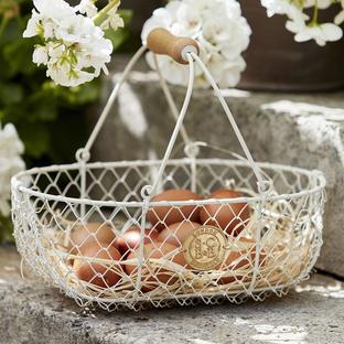 Small Cream Harvesting Basket
