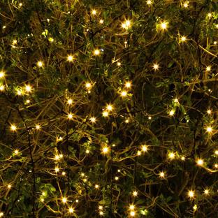 100 Solar Warm White LED string lights