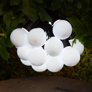20 Solar White Festoon Lights