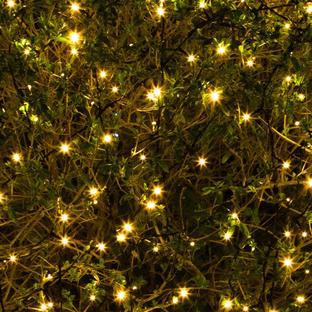 400 Solar Warm White LED String Lights