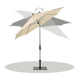 AluTwist Classic Bespoke Rectangular Parasols