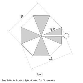 SombranoS+ Easy Round Parasols