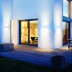 Motion Sensor Cylindrical Up/Down Outdoor Lights