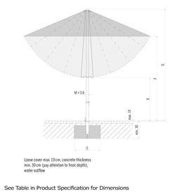 AluTwist Easy Rectangular Centre Pole Parasols