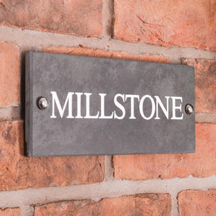 Smooth Slate One Line House Signs
