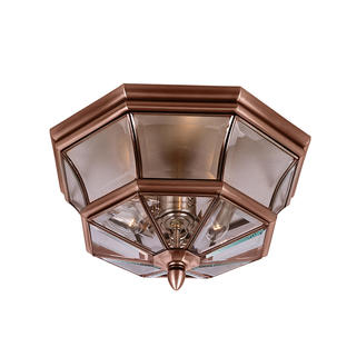 Newbury Flush Copper Mounted Lantern