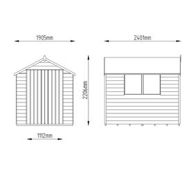 Double Door 8x6 Shed