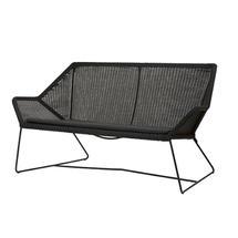 Breeze 2 Seat Lounge Sofa - Black
