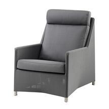 Diamond Highback Lounge Chair - Grey