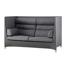 Diamond Highback 2 Seat Lounge Sofa - Grey