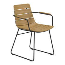 William Dining Chair with Arms - Teak / Meteor
