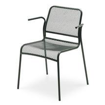 Mira Chair w/armrest - Hunter Green