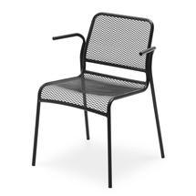 Mira Chair w/armrest - Anthracite Black