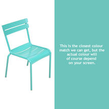 Luxembourg Stacking Chair - Lagoon Blue