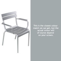 Luxembourg Stacking Armchair - Steel Grey