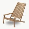 Between Lines Teak Deck Chair
