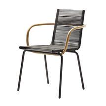 Sidd Indoor Armchair stackable - Brown