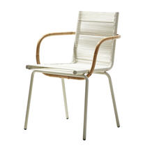 Sidd Indoor Armchair stackable - White