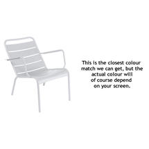 Luxembourg Low Armchair - Cotton White