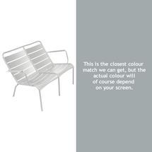 Luxembourg Low Armchair Duo - Steel Grey
