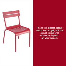 Steel Luxembourg Chair - Chilli