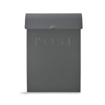 Post box with lock - Charcoal