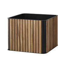 Flowerbox Combine Box Planters - Teak / Lava Grey