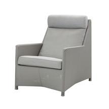 Diamond Highback Lounge Chair - Light grey