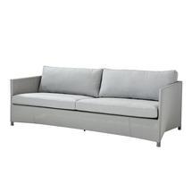 Diamond 3 Seat Sofa - Light Grey