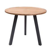 Atlantic Dining Table 90cm Round - Anthracite/Teak