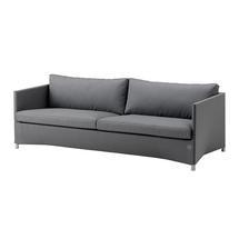 Diamond 3 Seat Sofa - Grey