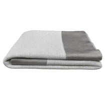 Knitted Throw - Dusty White - small
