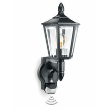 Outdoor Motion Sensor Wall L15 Black Traditional Lantern