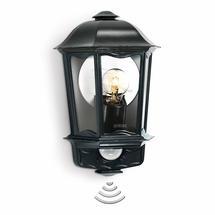 Motion Sensor Traditional Half Lantern L190S Black