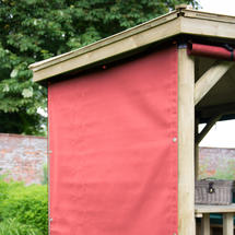 Curtains for 4m Hexagonal Garden Gazebo - Terracotta