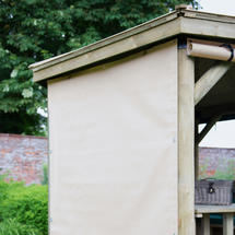 Curtains for 4.7m Hexagonal Garden Gazebo - Cream