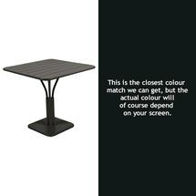 Luxembourg Square Table - Liquorice
