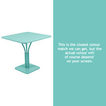 Luxembourg Square Table - Lagoon Blue
