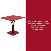 Luxembourg Square Table - Chilli